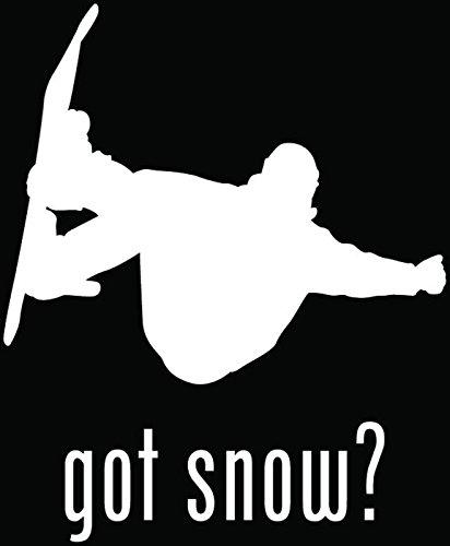 Got Snow Snowboard Snowboarding Car Truck Window Bumper Vinyl Graphic Decal Sticker- (6 inch) / (15 cm) Tall MATTE WHITE Color