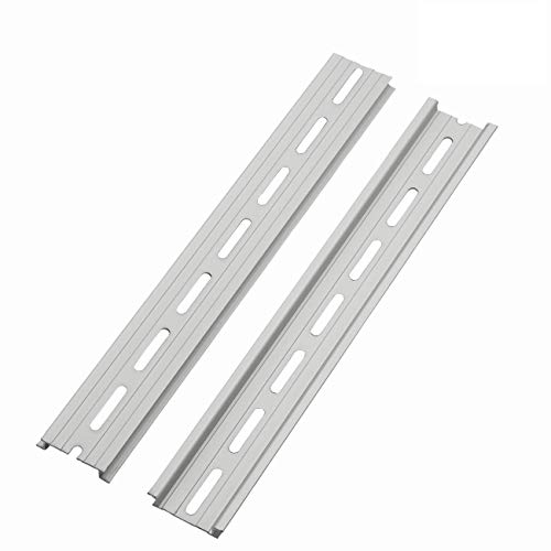 PZRT 2-Pack Aluminum 1.1mm Thickness Slotted DIN Rail,250mm 9.8