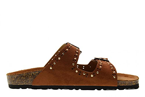 GoldStar Sandales Cuoio Femme 1800MB Pantoufles Peau Chaussures qEprE