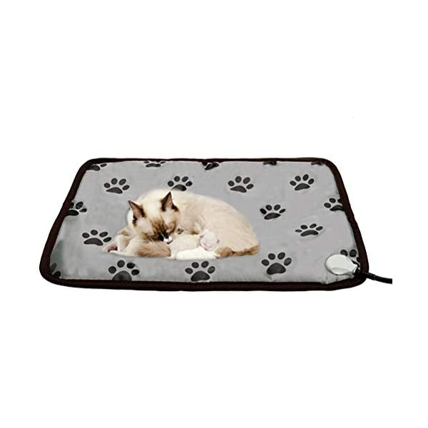 PUPTECK Pet Heating Pad - Dog Cat Electric Heated Pads - Waterproof & Chew Resistant Mat for Indoor Grey 4