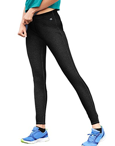 Champion Cotton Tights (Champion Women's Go-To Workout Legging, Black, X-Large)