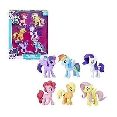My Little Pony Toys Meet the Mane 6 Ponies Collection ( Exclusive): Toys & Games