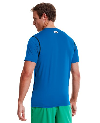 Under Armour Men's HeatGear® Sonic Fitted Short Sleeve Extra Large ELECTRIC BLUE