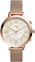 Fossil Hybrid Smartwatch - Q Jacqueline Rose Gold-Tone Stainless Steel FTW5018