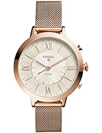 Q Jacqueline Stainless Steel Mesh Hybrid Smartwatch, Color: Rose Gold-Tone (Model: FTW5018)