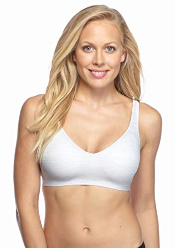 Hanes Ultimate Smooth Inside and Out Wirefree Bra (HU04) L/Heather Grey Print