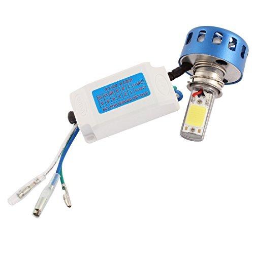 Amazon.com: eDealMax Blue Shell Blanco de la linterna COB luz de la motocicleta: Automotive