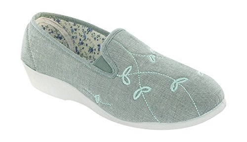 8 4 Blue Size 7 Textile 6 Shoes Touch 5 3 Fastened Lined Womens Green Mirak YOwzZ1qF