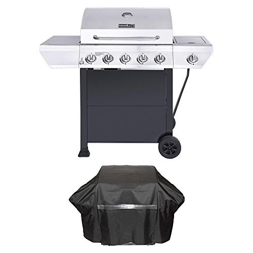 Nexgrill 5-Burner Propane Gas Grill in Stainless Steel with