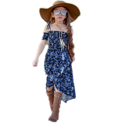 - Mommy and me Family Long Dress Mother Daughter Chiffon Dresses Baby Girls Sundress (Girls, XL)