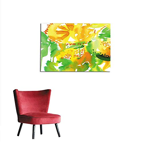 Lemon Baseball Peel (homehot Wallpaper Abstract Watercolor Background to Create a Greeting Card with Lemons Mural 20