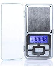 ميزان مجوهرات الكتروني صغير بتصميم رقمي ويمكن حمله بالجيب بسعة 500 غرام الى 0.1 غرام، يعمل بوحدات غرام وطن متري واونصة وقيراط بشاشة ال سي دي بلون ازرق H9630