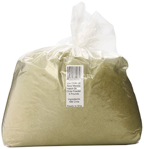 Los Chileros New Mexico Hatch Green Chile, Powder, 5 Pound by Los Chileros