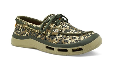 Fishing Boat Boot - SoftScience Men's Fin 2.0 Boat Shoe Sage Digi Camo 12