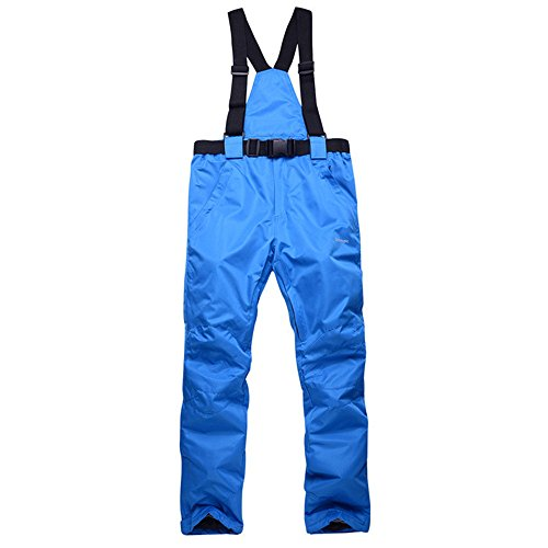 Smilovely Women's Snow Pants Removable Suspender Ski Outdoor Waterproof and Wind-Resistant Insulated Pants