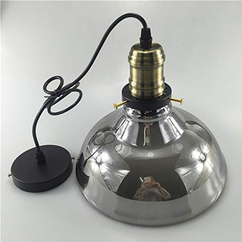 Goonpetchkrai.rapat7498 Vintage Amble/Smoke Gray Pendant Lights Glass Abajur Suspension Luminaire Loft Retro E27 Pendant Lamps Industrial Wind Lighting