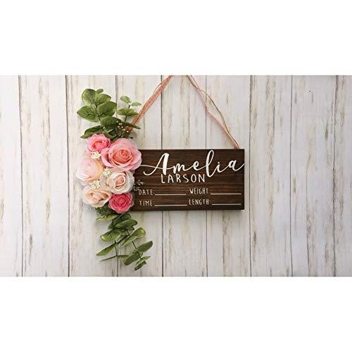 Hospital Door Hanger - Floral - Baby Girl