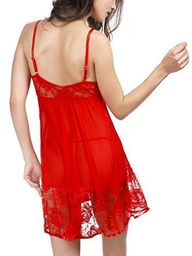 Upgrow - Salto de cama - para mujer Rosso