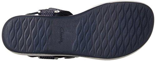 Clarks Kvinners Brizo Cady Sandal Marineblå / Hvit Tekstil