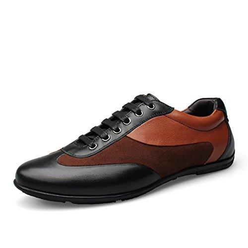 Grande Loisir 48 Eur En Respirant Plates Hommes Chaussures Taille Lumière Décontractées Khaki 38 Confortable Cuir UAzxcqCx5w