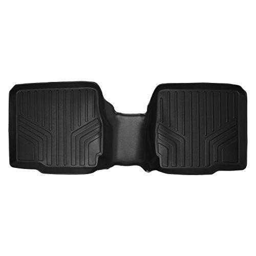 MAXLINER B0109 Floor Mats 2nd Row Black for 2011-2018 Ford Explorer With 2nd Row Center Console (Cargo Console Row)