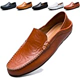 MCICI Mens Loafers Moccasin Driving Shoes Premium Genuine Leather Casual Slip On Flats
