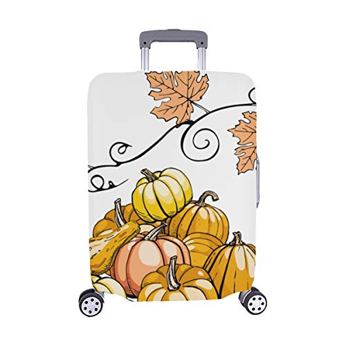 Hand-painted Pumpkin Painting Spandex Trolley Case Travel Luggage Protector Suitcase Cover 28.5 X 20.5 Inch(only Dust Cover) -