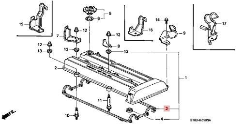 Autobahn88 Vehicle Engine Valve Cover Gasket Seal, fits for Honda Acura Integra CRV B18A B18B1, OEM: 12341-PR4-A00, 12341PR4A00