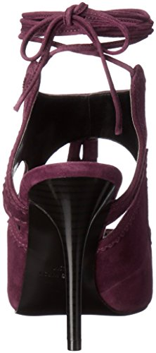 8 Sandal Nine Maisie M Suede Wine Dress US West Women qaSq0P