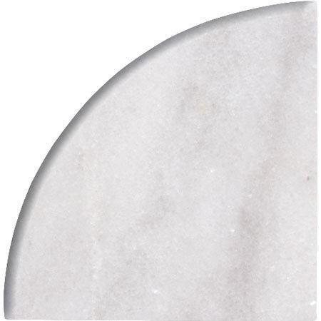 9'' X 9'' X 3/4'' Round Edge Bianco Carrara Premium Corner Shelf Piece Both Sides Polished (1) by Alternative Tiles