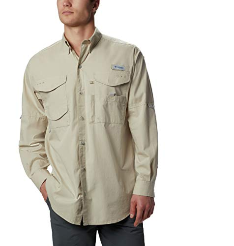 Columbia Men's Pfg Bonehead Long Sleeve Shirt,  Fossil,  XX-Large (Sportswear Columbia New)