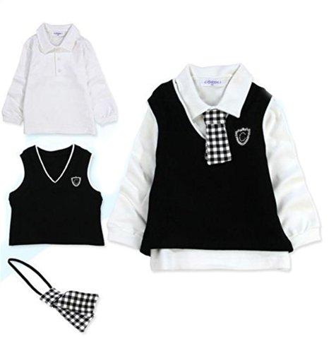 New Baby Clothing Set Boys Hat+Tie+T-Shirt+Vest+Pants Sui...