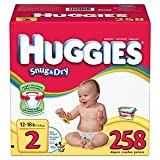 Huggies Size 2 (12-18 Lbs) 258 Diapers