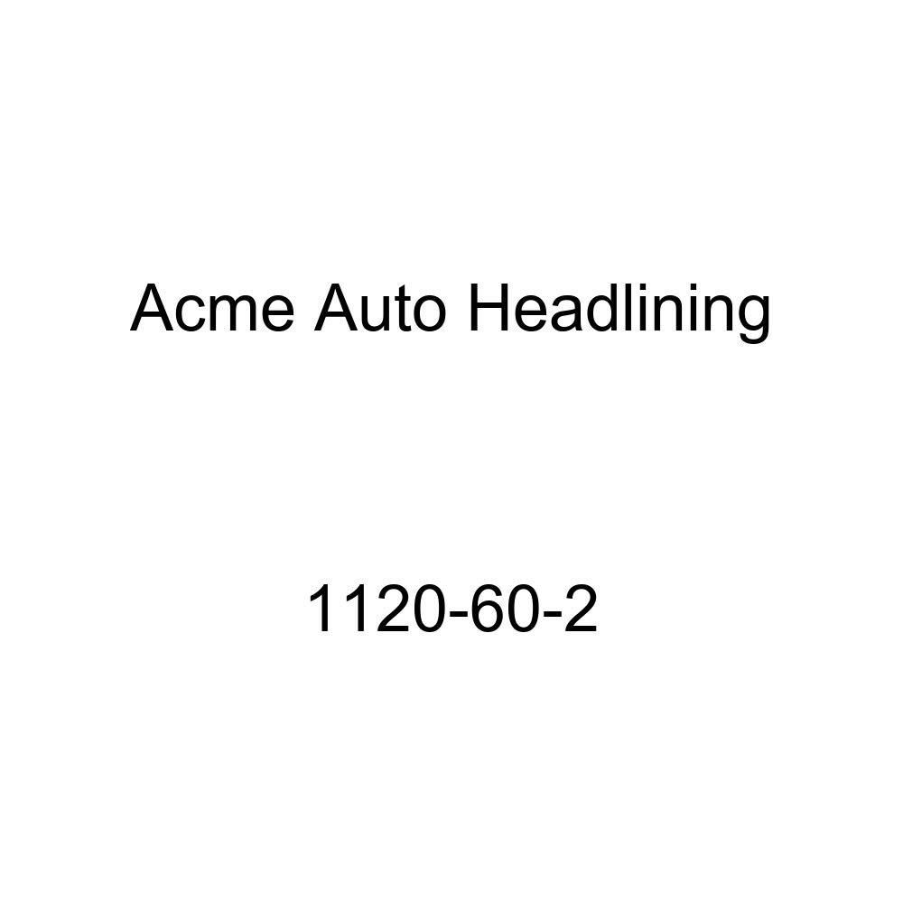 Acme Auto Headlining 1120-60-2 Black Replacement Headliner 1942-48 Buick, Cadillac, Oldsmobile 2 Dr Club /& Sport Coupe-8 Bows