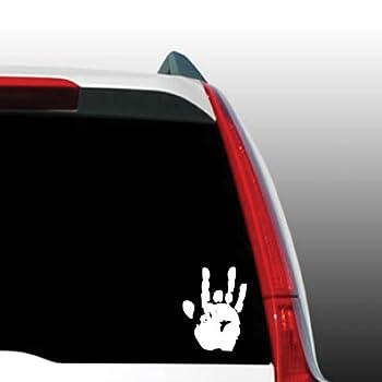 Jerry Garcia Handprint Grateful Dead White Sticker Decal Car Window Wall Macbook Notebook Laptop Sticker Decal