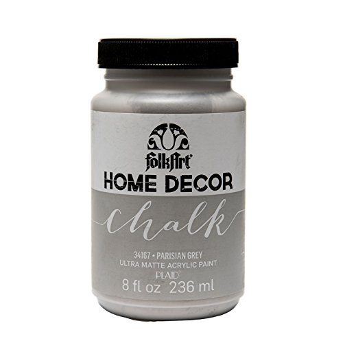 halk Furniture & Craft Paint in Assorted Colors (8 Ounce), 34167 Parisian Grey ()