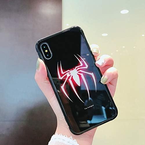 Coque pour iPhone XR Lumineux Marvel Batman Superman Glass Case ...