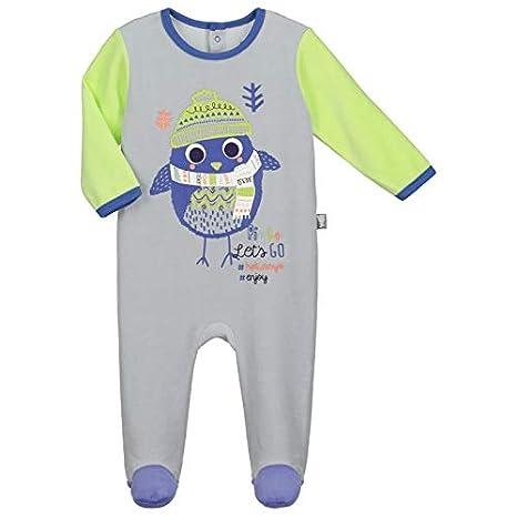 e2eb6857a2402 Pyjama bébé velours Pingoo - Taille - 3 mois (62 cm)  Amazon.fr ...