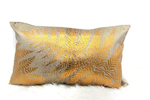 (Contempo Lifestyles Gold Metallic Throw Pillow: 12
