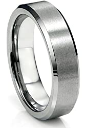 6MM Tungsten Satin Men's Wedding Band Ring Size 5-16