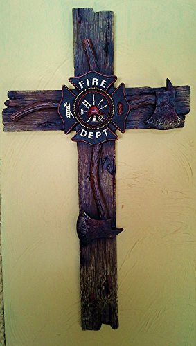 Firefighter's Decorative Wall Cross (Large - ()