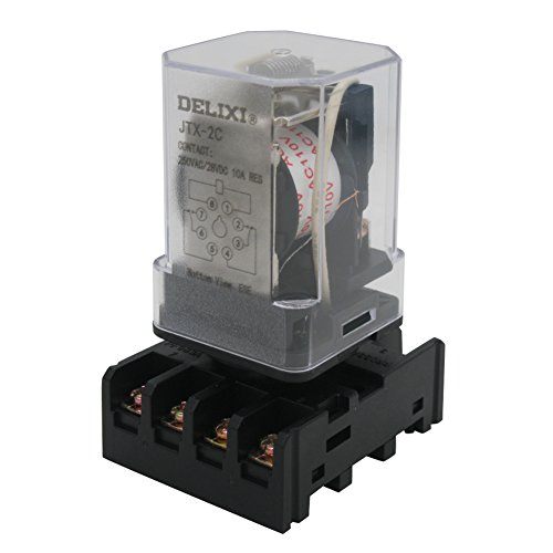- TWTADE/JTX-2C, MK2P-I DPDT Power Relay with Plug-in Terminal Socket Base, AC 110V Coil, 8 Pin 2NO 2NC (Quality assurance for 1 years) AC 110V