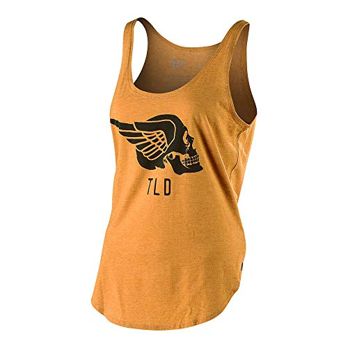 Troy Lee Designs Women's Agent Skully Tank Top (Small, Antique Gold) ()