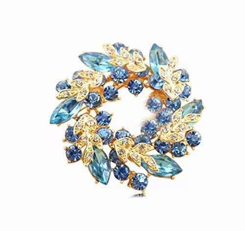 [해외]프로페셔널 임대 형식 브 로치 선물 기프트에 최적 꽃 브 로치 / Gorgeous Wreath Type Brooch Gift Perfect For Gift Flower Brooch
