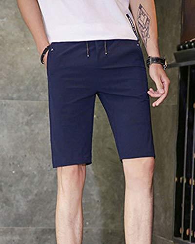 Chic Blau Mode Genou Décontracté Longueur De Remise Pantalon Forme En Estivale D'homme Plage Sport Homme Bermudes Court a0qxw8
