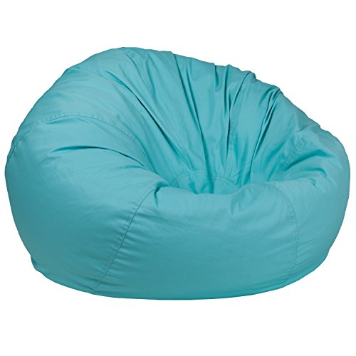 Flash Furniture Oversized Solid Mint Green Bean Bag Chair ()