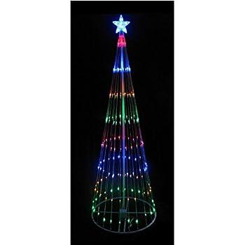 12u0027 Multi Color LED Light Show Cone Christmas Tree Lighted Yard Art  Decoration