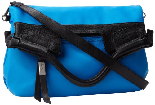 Foley + Corinna Reversible Nylon Mid City FC131730 Tote,Black/Blue,One Size (Foley Corinna Handbags Mid City Tote)