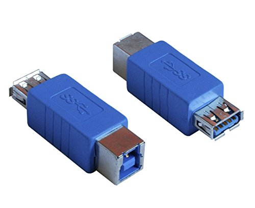 HTTX USB 3.0 Adapter - Type A Female to Type B Female Connector Converter Adapter (2-Pack)