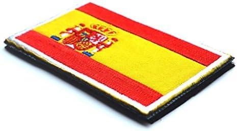 1 parche de tela de bandera de España bordado para coser de 8 x 5 cm: Amazon.es: Hogar